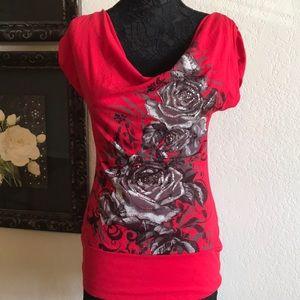 Bongo Red scoop neck T-shirt